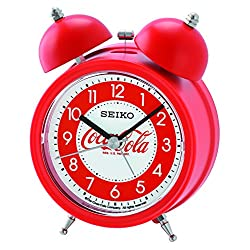 SEIKO QHK905R Coca-Cola Bell Alarm Clock, Red, 13.5 x 9.5 x 6 cm