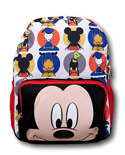 KBNL Disney Mickey Mouse Big Face All Over Backpack, 16 Inch