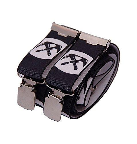 OYSTER Hosenträger schwarz mit Emblem verschiedene Gewerke (Dachdecker)