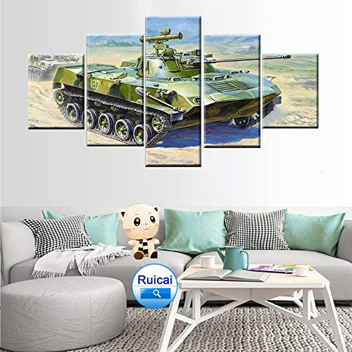 DGGDVP HD Print 5 Panel Home Decor Wall Art Picture Tank Poster Taille 2 No Frame