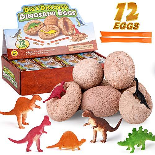 mischen Farben Wenosda Dino Dinosaurier-Dracheneier Schl/üpfen Large Size Packung mit 12 St/ück wachsenden Spielzeug 12pcs farbrisse mischen