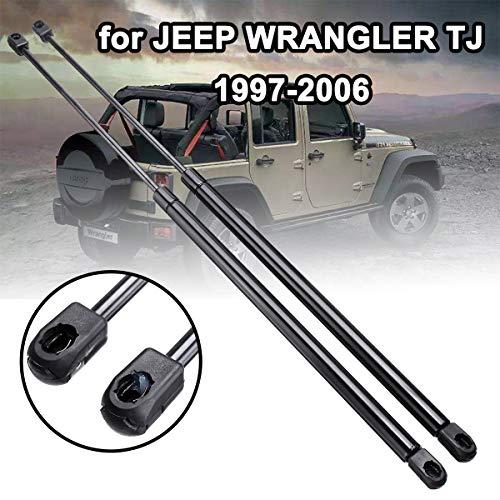 LSYBB 2 Pezzi portellone Boot Tronco Gas Primavera Hood Ascensore Shock Struts Arm Bar Staffa per Jeep Wrangler TJ 1997-2006