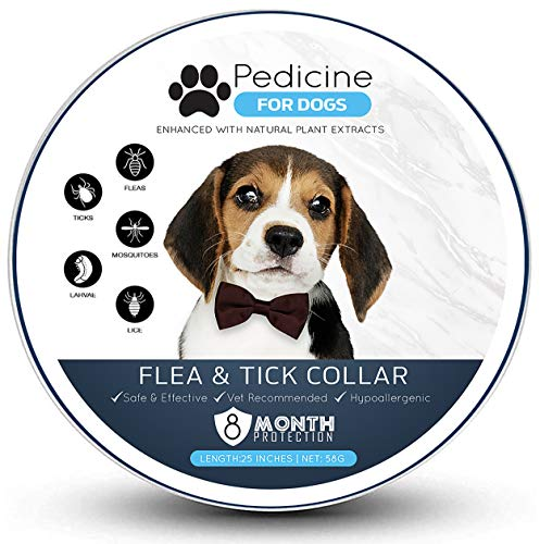 Pedicine Dog Flea Collar for Flea and Tick Treatment