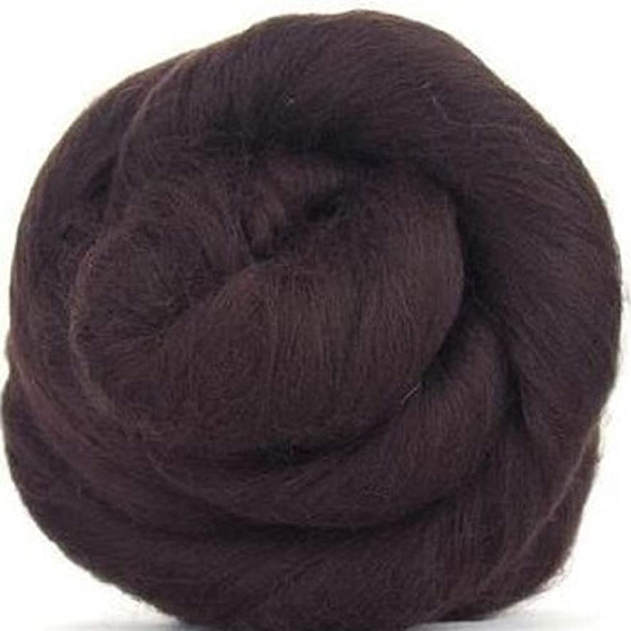 4 oz Paradise Fibers 64 Count Dyed Mocha (Brown) Merino Top Spinning Fiber Luxuriously Soft Wool Top Roving for Spinning with Spindle or Wheel, Felting, Blending and Weaving