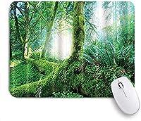 KAPANOU マウスパッド、ジャングルの緑のヤシの葉 おしゃれ 耐久性が良い 滑り止めゴム底 ゲーミングなど適用 マウス 用ノートブックコンピュータマウスマット