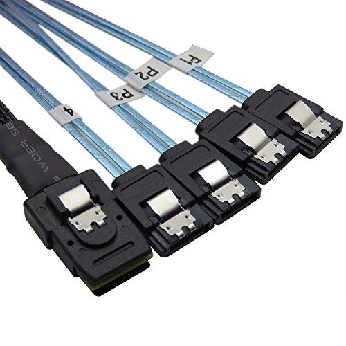 YIWENTEC Mini SAS 36P SFF-8087 a 4 SATA - Cable de datos 1 m