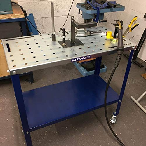 """KASTFORCE KF3002 Portable Welding Table Wedling Cart Universal Work Table with 5/8"""" Holes on Top"""