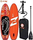 Zray E9 Stand up Paddle Gonflable Dropstitch Jeunesse Unisexe, Rouge, 275x76x13cm