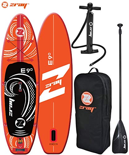 ZRAY SUP Evasion 9' - Stand Up Paddle Gonflable - Charge Max 95 Kg - 275 x 76 x 13 cm - Dropstitch -...