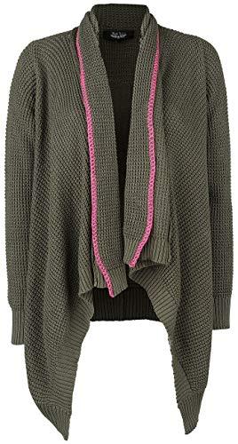 Rock Rebel by EMP Last Breath Frauen Cardigan dunkelgrün L 100% Baumwolle Basics, Rockwear