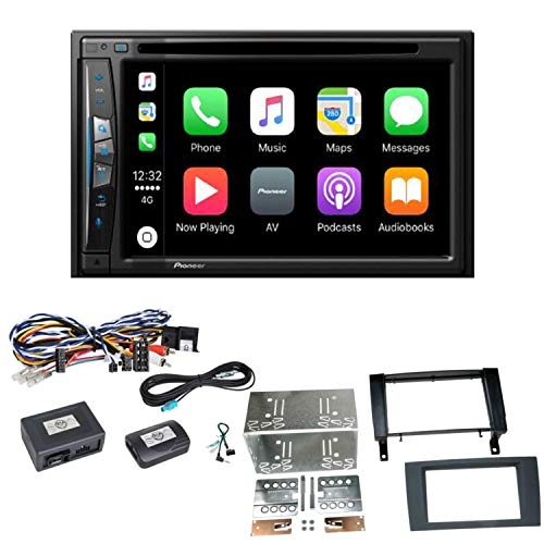 Pioneer z610bt Navegación CarPlay USB CD DVD Bluetooth MP3 WMA Radio de Coche de 2 DIN naviceiver OHG – para Mercedes SLK R171