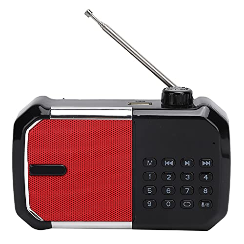 ASHATA Altavoz Bluetooth portátil, Radio FM Digital, con diseño de Antena Extensible,...