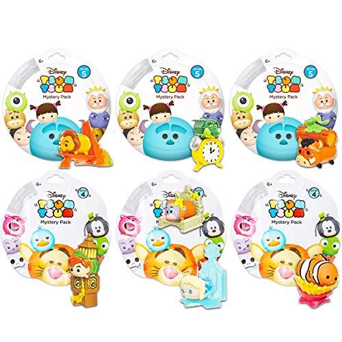 Tsum Tsum Mystery Disney Pack Set -- Bundle Includes 6 Tsum Tsum Blind Bags (Series 4 & 5) for Kids Boys Girls (Disney Party Favors ~ Super Pack)