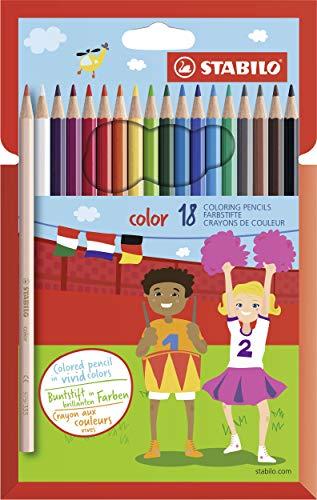 Stabilo Matita colorata - color - Astuccio da 18 - Colori assortiti