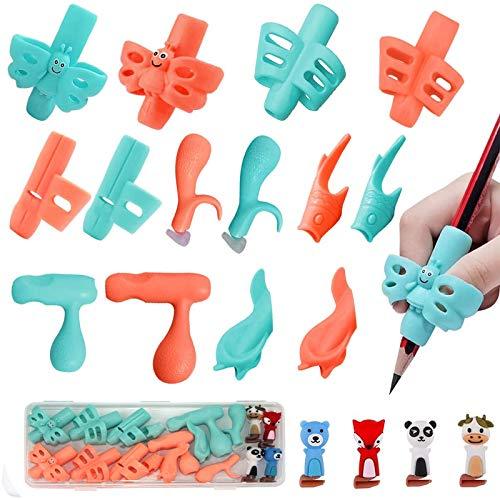 Pencil Grips, Pencils Grips for Kids Handwriting, Children Pencil Holder Writing Aid Grip Trainer, Ergonomic Training Pen Grip Posture Correction Tool, Pen Grip, Grip Pencils for Kids (18PCS)