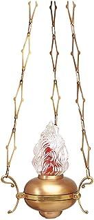 REAL VOTIVA FONDERIE D'ARTE Classic bronze chandelier for chapels - Golden band [13.2762/80]