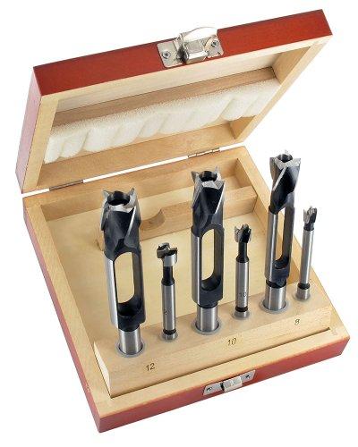 ENT 09150 6-deliges set met 3 proppenboren- en 3 Forstnerboren. Combinatie set. Boordoormeters: 8-10-12 mm. De afmetingen zijn op elkaar afgestemt.