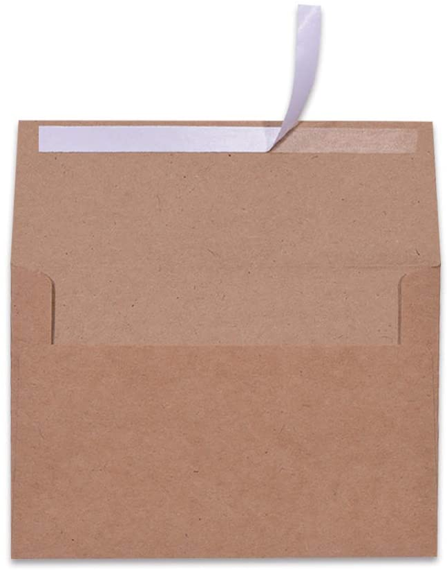 100 New life Pack A7 Brown Kraft Paper Invitation Austin Mall 7 - 5 x Envelopes Quick