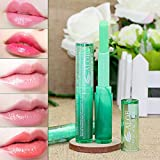 Make-Up Lippenstift Temperatur Farbwechsel Langlebig Feuchtigkeitscreme Lipstick Lipgloss (1.7g, Grün)