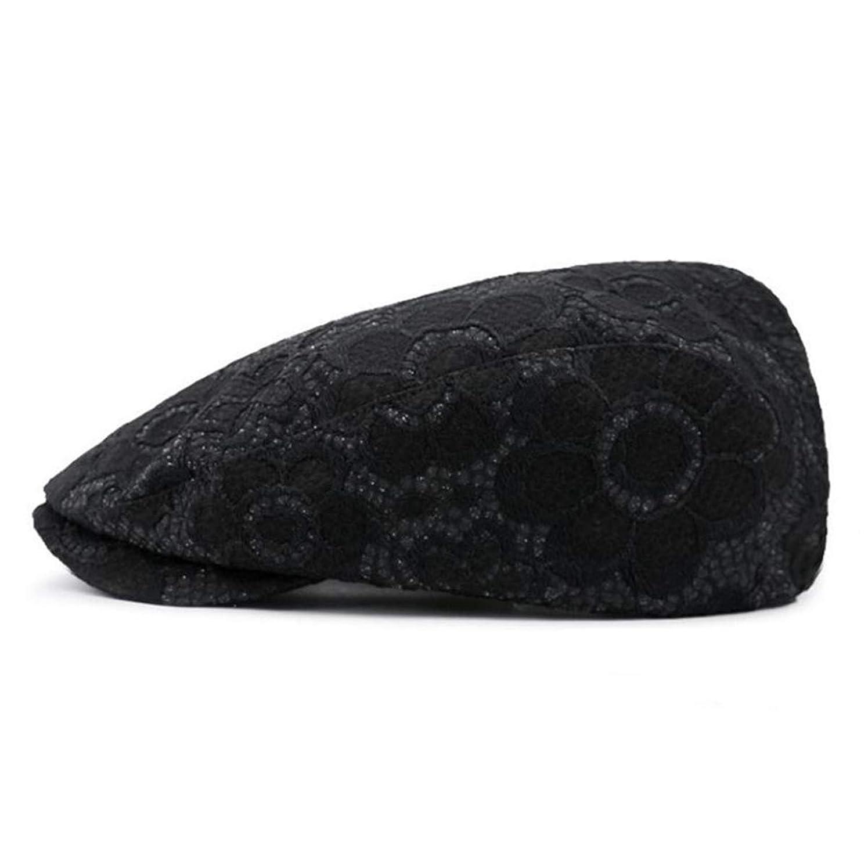 階層配送協力的[Eternal Leaf] ハンチング ボタニカル フラワー レース ハンチング帽 キャスケット UVカット 帽子 花柄 レディース フリーサイズ FT12810
