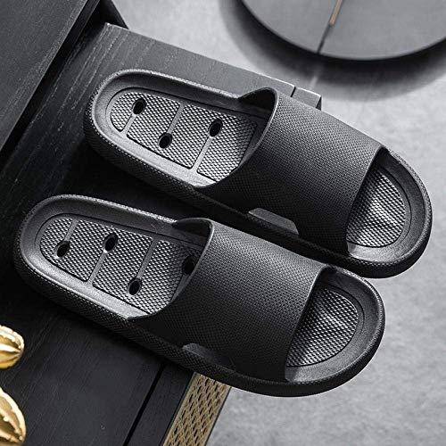Ergonómica flip-flops del dedo del pie tanga sandalias, zapatillas de casa suaves antideslizante y desodorantes, zapatillas-36-37_B-negras, Casa de espumas blandas de mulas resistente al desgaste kshu