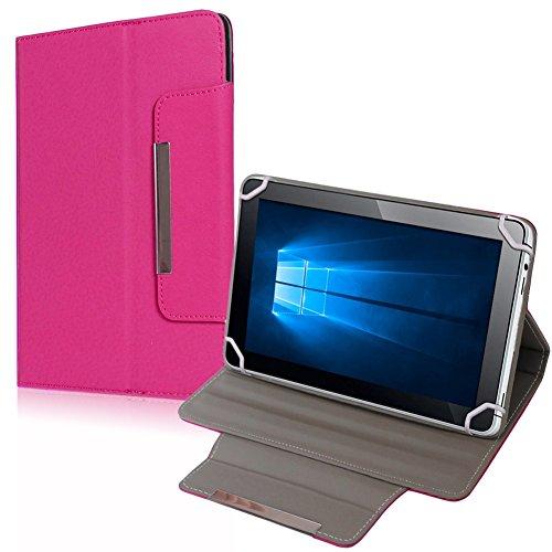 UC-Express Allview Viva H1001 H1002 Tablet Tasche Hülle Schutzhülle Case Cover Leder-Optik Bag, Farben:Pink