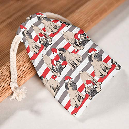O5KFD & 8 12-delige set drawstrings canvas trekkoord opbergtas stof - proof candy tas pak voor Valentijnsdag party geschenk wrap tas - ontworpen print 20 * 25cm wit