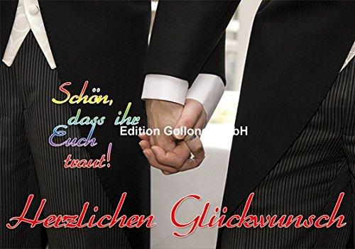 Hochzeitskarte,Doppelkarte incl.Umschlag,gleichgeschlechtlich,schwul,homo