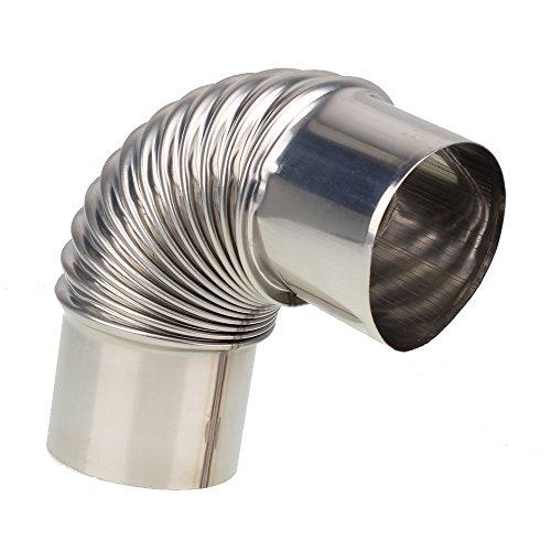 Yibuy Calentador de Agua de 6 cm de Diámetro, Tubo de Escape para Codo de Ventilación para Gas y sin Tanques