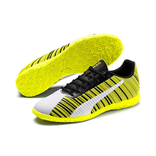 Puma Herren Fussballschuhe PUMA ONE 5.4 IT 105654 Puma White-Puma Black-Yellow Alert 40
