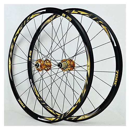 MNBV Ultraleichte 700C Scheibenbremse Rennradradsatz Cyclocross Doppelwandige 30mm Leichtmetallräder V/C Bremse Schnellspanner 7/8/9/10/11 Geschwindigkeit 1700g Rad