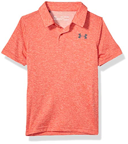 Under Armour Jungen Microthread Polo, Martian Red Light Heather (646)/Pitch Gray, Youth X-Small