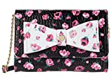 Betsey Johnson Dani Floral Printed Crossbody with Bow Floral One Size