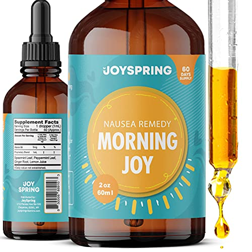Morning Sickness Relief - Pregnancy Nausea Relief - Morning Sickness Herbal Remedy - Anti Nausea Liquid Drops with Peppermint Extract and Natural Vitamin C and B6
