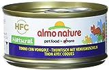 Photo Gallery almo nature hfc natural - cibo umido complementare per gatti adulti con 100% tonno con vongole freschi di qualità hfc. 24 lattine da 70g. - 2457 g