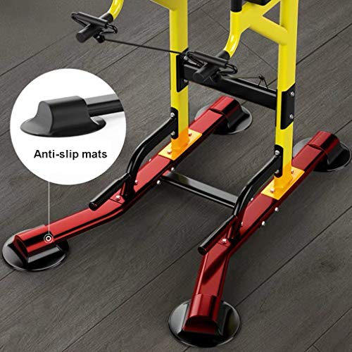 Product Image 3: Fitness equipment Pull-up Bars Free Standing Stand Dip Station Power Tower Pull-up Bar Strength Training for Home Gym 990 Weight Capacity (Size : A-Black)