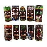 Zeckos 10 piezas polinesias de madera talladas a mano estilo isla Tiki Máscaras de 25,4 cm