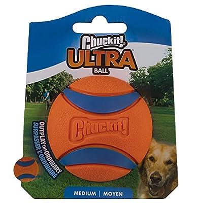 ChuckIt! Ultra Ball, Medium (2.5 Inch) 1 Pack, Medium, 2.5-Inch, 1-Pack, Multicolor, Model:170015