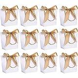 deer platz 12 pezzi sacchetti di carta del regalo, sacchetti regalo con maniglie, sacchetti regalo con fiocco maniglie, per compleanno wedding present wrap