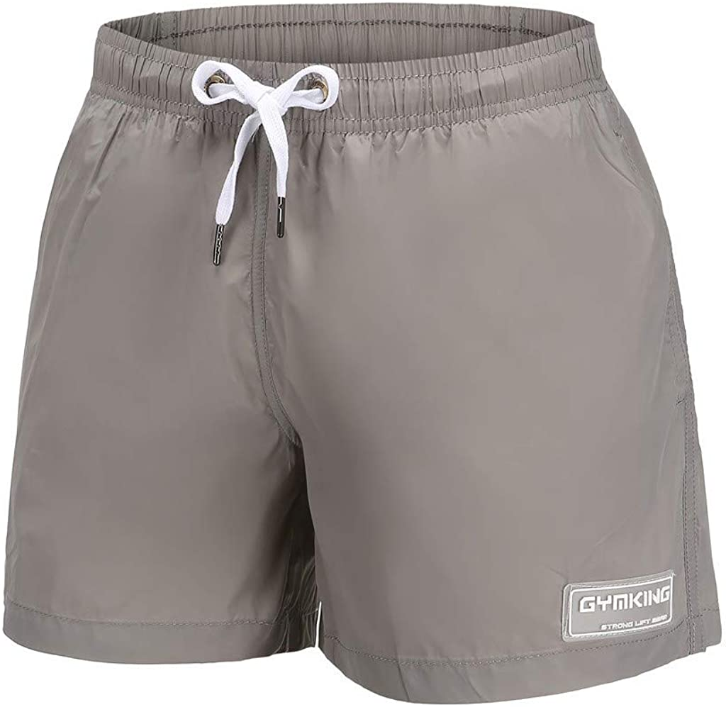 Forthery Mens Summer Swimwear Trunks Basic Solid Quick Dry Beach Surfing Running Swimming Shorts Pant