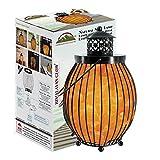 Himalayan Glow 1342 Lantern Style Basket Chunks,Pink Nightlight,Salt Lamp Bulb,(ETL Certified) Dimmer Switch,Pleasant & Relaxing Amber Glow |, 7-9 lbs