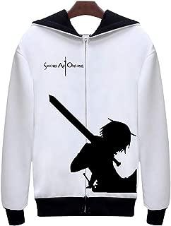 Top for Sword Art Online SAO Cosplay Costume Pullover Sweatshirt Hoodie Jacket with Zipper