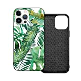 Funda de protección compatible con iPhone 12 / iPhone 12 Pro Monstera Banana Palm Leaf Funda de silicona suave TPU