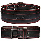 Weight Lifting Belt Genuine Leather Lifting Belt for Men and Women, 4 Inches Wide Gym Belts for Weightlifting, Powerlifting and Deadlift, Gym Lifting Belt Durable and Comfortable