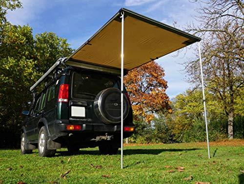 Prime Tech Fahrzeug-Markise 150x200x210cm beige auch für Dachzelte