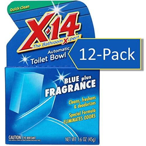 X-14 - 268011 Blue Plus Fragrance Automatic Toilet Bowl Cleaner, 1.6 OZ [12-PACK]