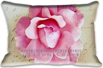 Custom Design Pink Rose Vintage Pillow Cases Zippered, Standard Vintage Pillowcase - 20X30inch Lovely Cushion Covers Two Size Print