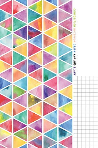"""Composition Notebook Graph 4x4 and Blank: Half Graph Paper 4x4 (four squares per inch 0.25"""" x 0.25"""") And Half Blank Paper on Same Page: Quadrille, ... and Math Paper Journal Notebook Organizer"""