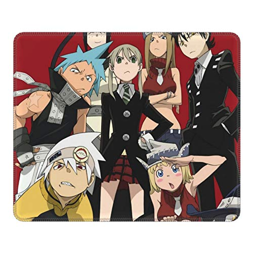 Soul Eater Poster Gaming Mouse Pad Keyboard Mouse Mat with Stitched Edge Non-Slip Rubber Game Mousepad Wrist Rests Multifunctional Big Office Desk Pad for Pc Computer Laptop 10 X 12 Inch