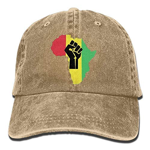 XBFHG African Roots Black Power Piece.PNG Unisex Adulto Ajustable Jeans Dad Cap